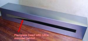 Cabinet with plexiglass insert