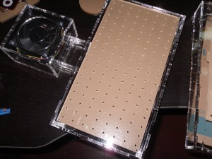 Base with holes for air cushion